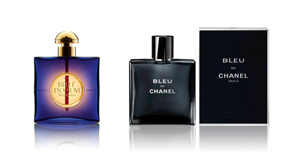 Belle d'Opium d'Yves Saint Laurent, Bleu de Chanel