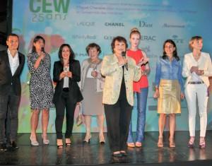 Françoise Montenay, Pdte du CEW, lors de la remise des awards, le 19 juin dernier, pour le 25ème anniversaire du CEW
