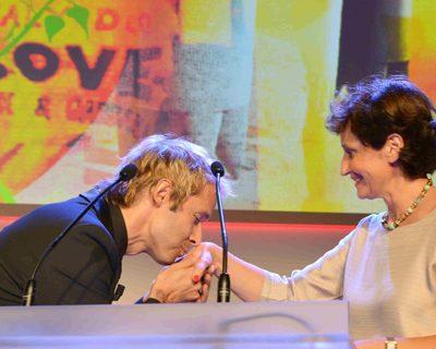 Damien Thévenot et Sabine Chabbert, directrice déléguée de la FFF