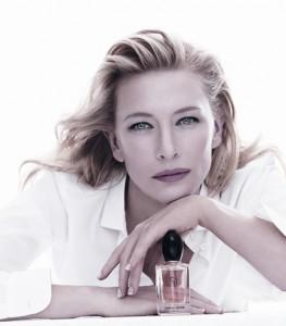 Cate Blanchett, égérie pour Si, d'Armani.