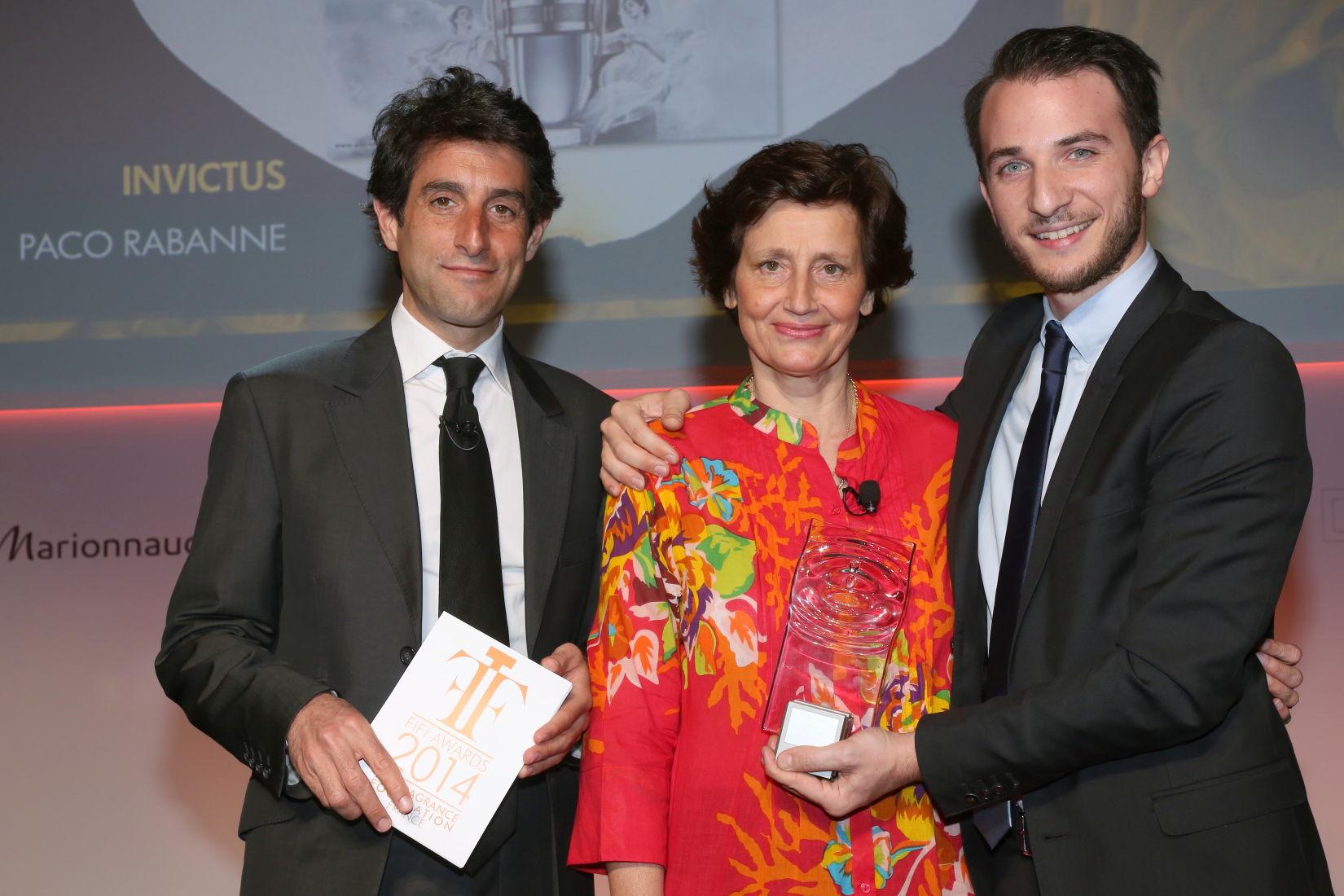 Thomas Misrachi (BFM-TV) et Nathan Hakim, avec Sabine Chabbert (Pour Invictus de Paco Rabanne)