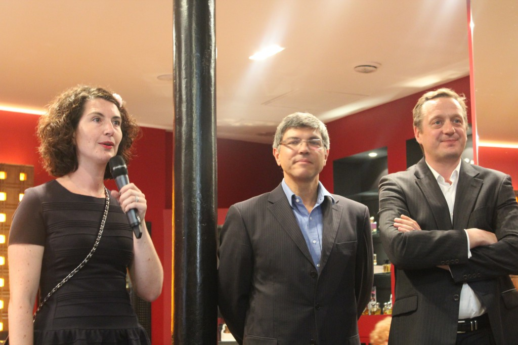 Marie Huet, présidente, Luc Gabriel et François Henin, du Comité Joséphine