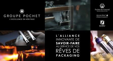 La home page du nouveau site du groupe Pochet