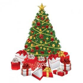 sticker-scrapbooking-sapin-de-noel-vert-avec-cadeaux