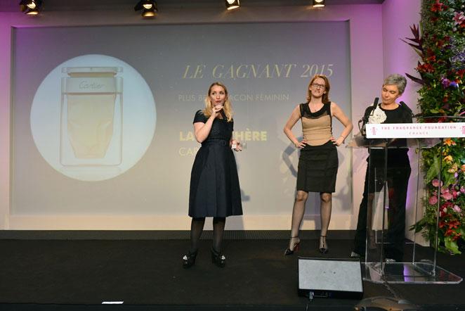 LÉA VIGNAL KENEDI DIRECTRICE GÉNÉRALE PARFUMS MONDE DE CARTIER et JULIE MATZ DARMON DIRECTRICE MARKETING INTERNATIONAL PARFUMS DE CARTIER Prix des Professionnels - plus beau flacon féminin - La Panthère