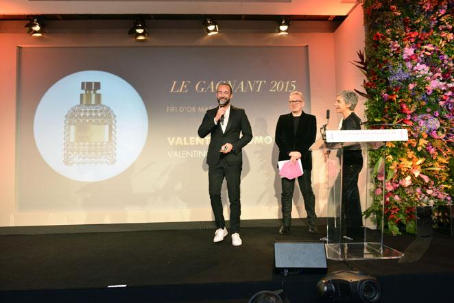 Jérôme Leloup, Directeur Général des Marques de Prestige de la société Puig, Fifi Award d'Or pour Valentino Uomo