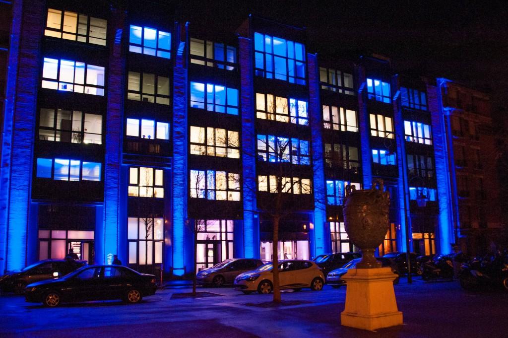 Le nouveau siège du groupe Pochet à Clichy, le soir de son inauguration