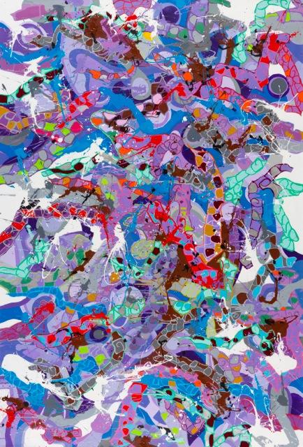 Sweet Hearts - JonOne - 2015 - Huile sur toile