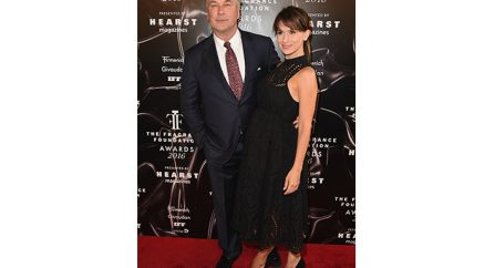 NEW YORK, NY - JUNE 07:  (L-R) Alec Baldwin and Hilaria Baldwin attend the 2016 Fragrance Foundation Awards presented by Hearst Magazines on June 7, 2016 in New York City.  (Photo by Nicholas Hunt/Getty Images Fragrance Foundation) *** Local Caption *** Elizabeth Musmanno;Hilaria Baldwin;Alec Baldwin